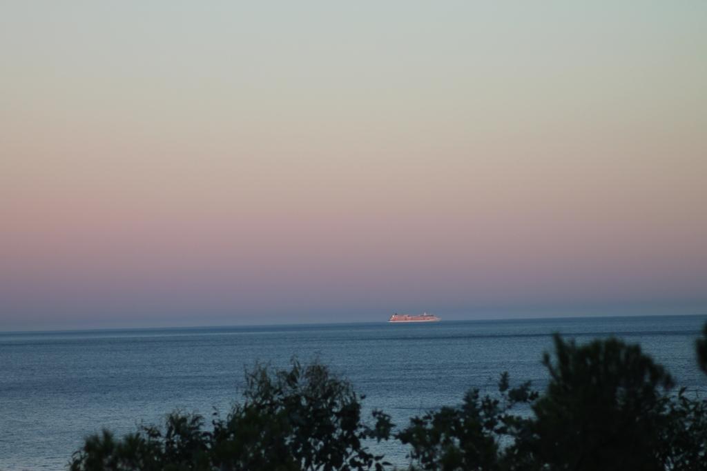 Un coucher de soleil sur la méditerranée